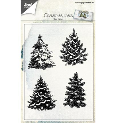 6410/0419 clearstamp Kerstbomen