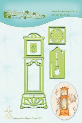 45.2748 Lea`bilitie snij- & embossingmal grandfather clock