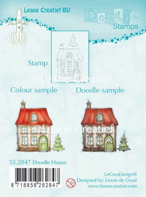 55.2847 Clear stamp doodle house