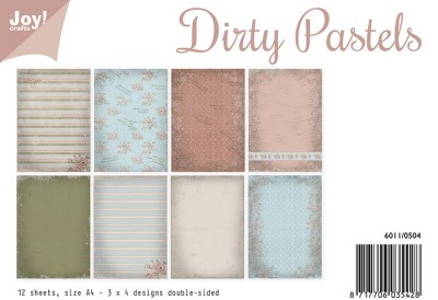 6011/0504 Papierset - Dirty Pastels