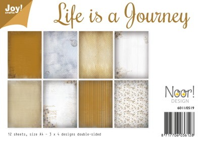 6011/0519 Papierset - Life is a journey