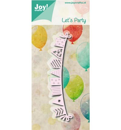 6002/0794 cutting & embossing Let`s party - Vlaggenlijn