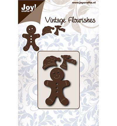 6003/0076 Cutting Vintage Flourishes Gingerbread mannetje