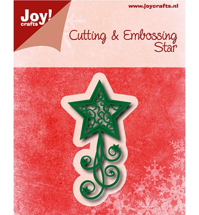 6002/0762 Cutting & Embossing Kerstster met swirls