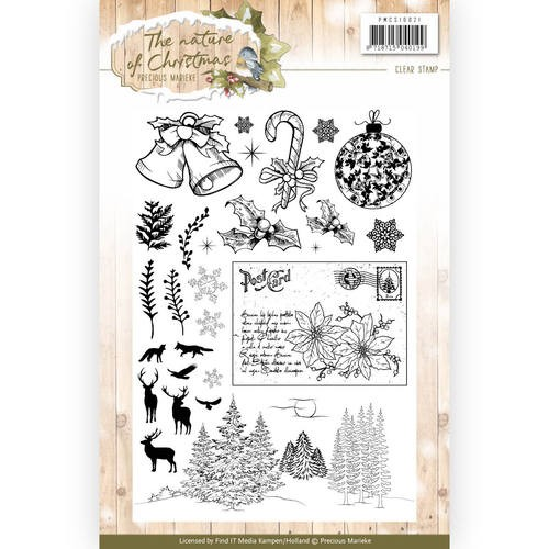 Clear Stamp - Precious Marieke - The Nature of Christmas   