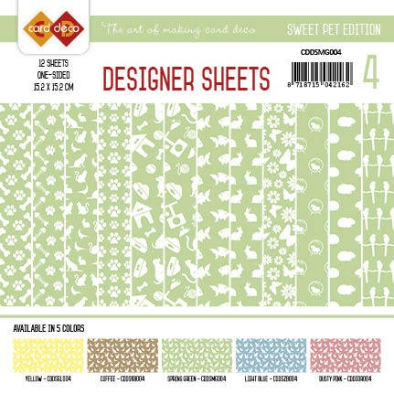 Card Deco - Designer Sheets -Sweet Pet- Meigroen