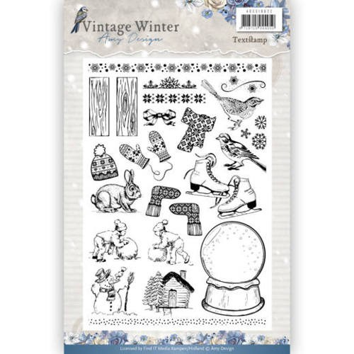 Clear Stamp - Amy Design - Vintage Winter