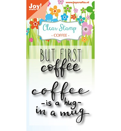 6410/0474 - Clearstempel - Coffee txt - Hug in a mug