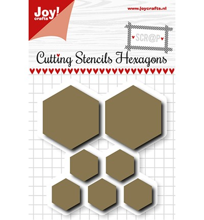 6002/1108 - Scrap Snijstencil - Hexagons