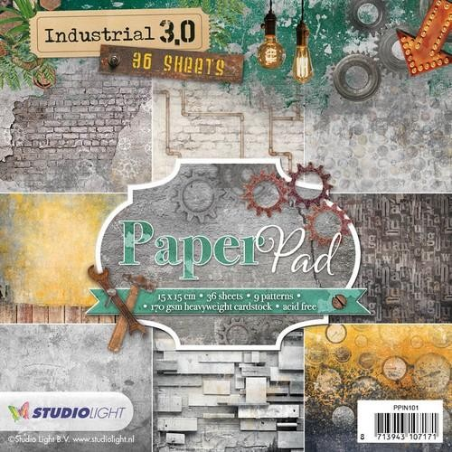tudio Light Paper pad 36 vel Industrial 3.0 nr 101 PPIN101 15x15cm
