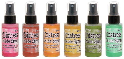 Distress oxide spray actieset 12 kleuren