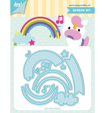 6002/1195 - Snij-stencils - Tumble Friends - Rainbow-sky