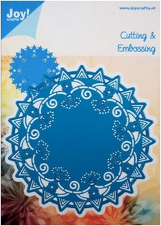 joy! Noor! Design snijmal Cutting & Embossing stencil rond nr. 1
